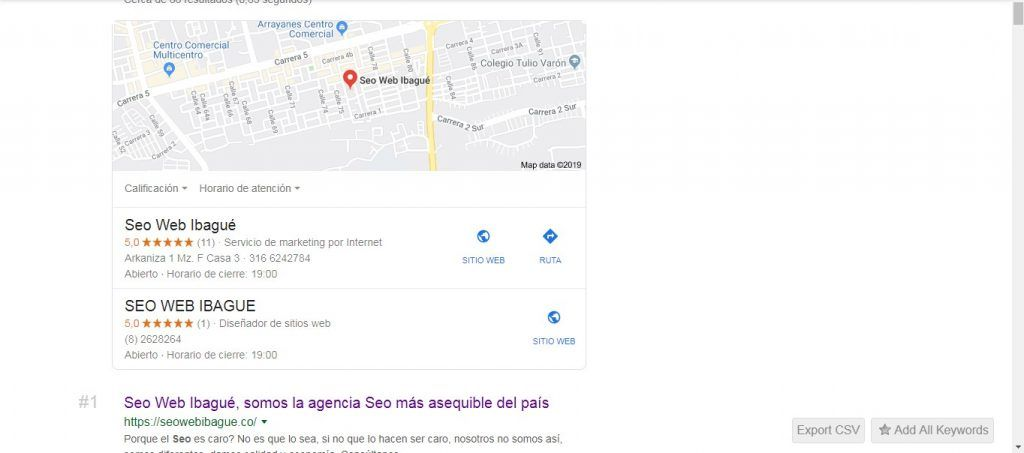 Seo web ibague seo local